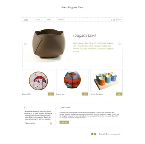 Ceramics online shop design