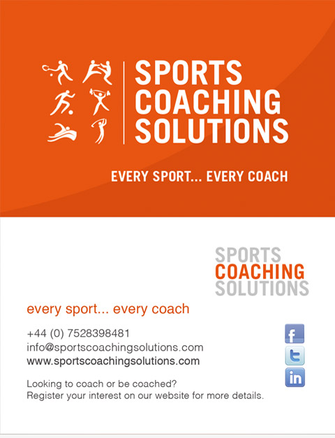 Sports Coaching Solutions business card